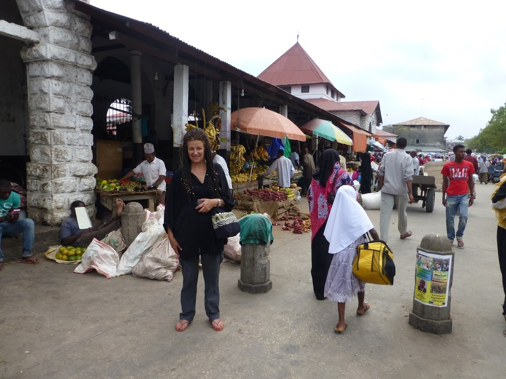 The food markets in Stone Town, Zanzibar