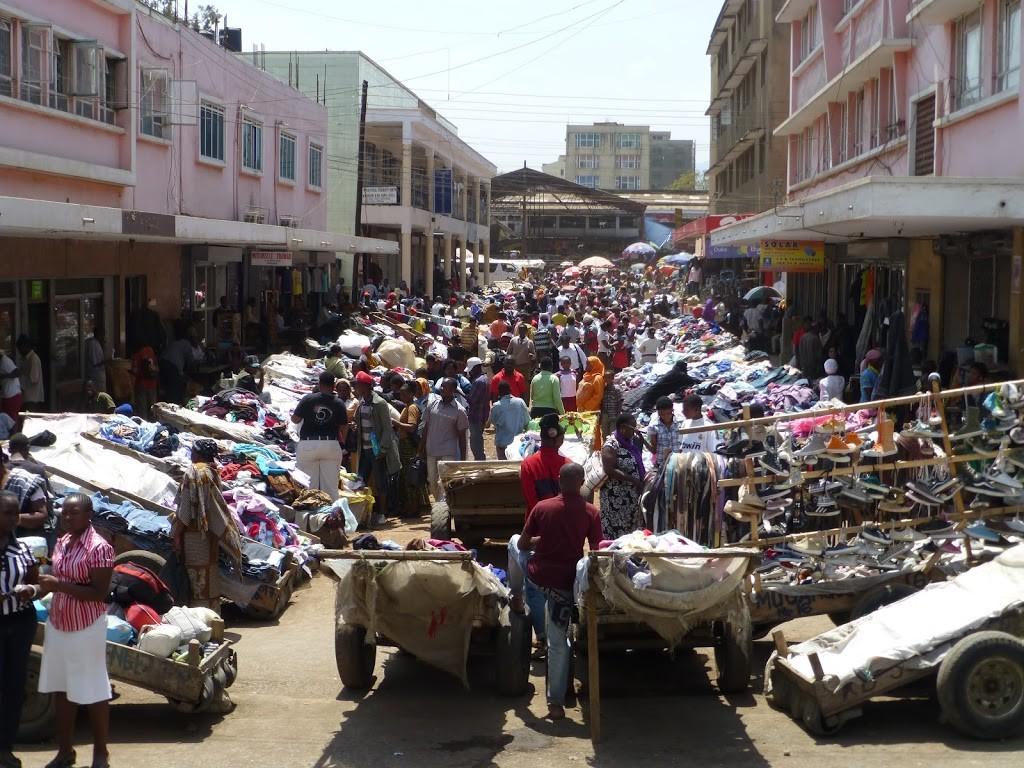 Street markets in Arusha