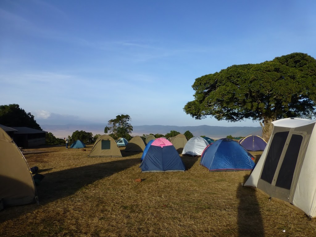 campsite on crater rim