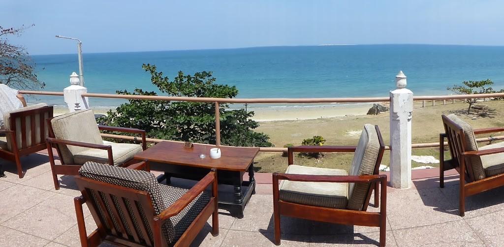 Africa House terrace overlooking the Indian Ocean