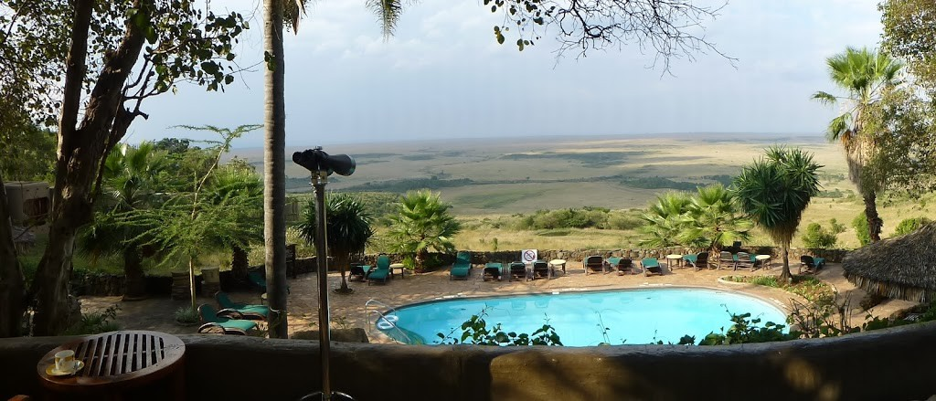 The view over the Mara from Serena Lodge